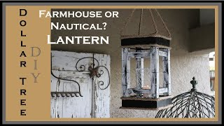 Dollar Tree DIY Farmhouse / Nautical Lantern - Super affordable!