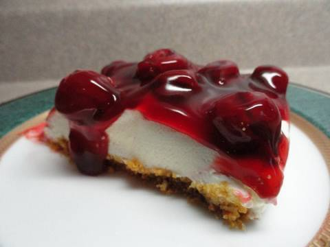 The Best No-Bake Cherry Cheesecake Ever!