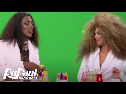 BTS of Nina & Valentina's Makeup Tutorial Gone Wrong BONUS Clip   RuPaul's Drag Race Season 9   VH1