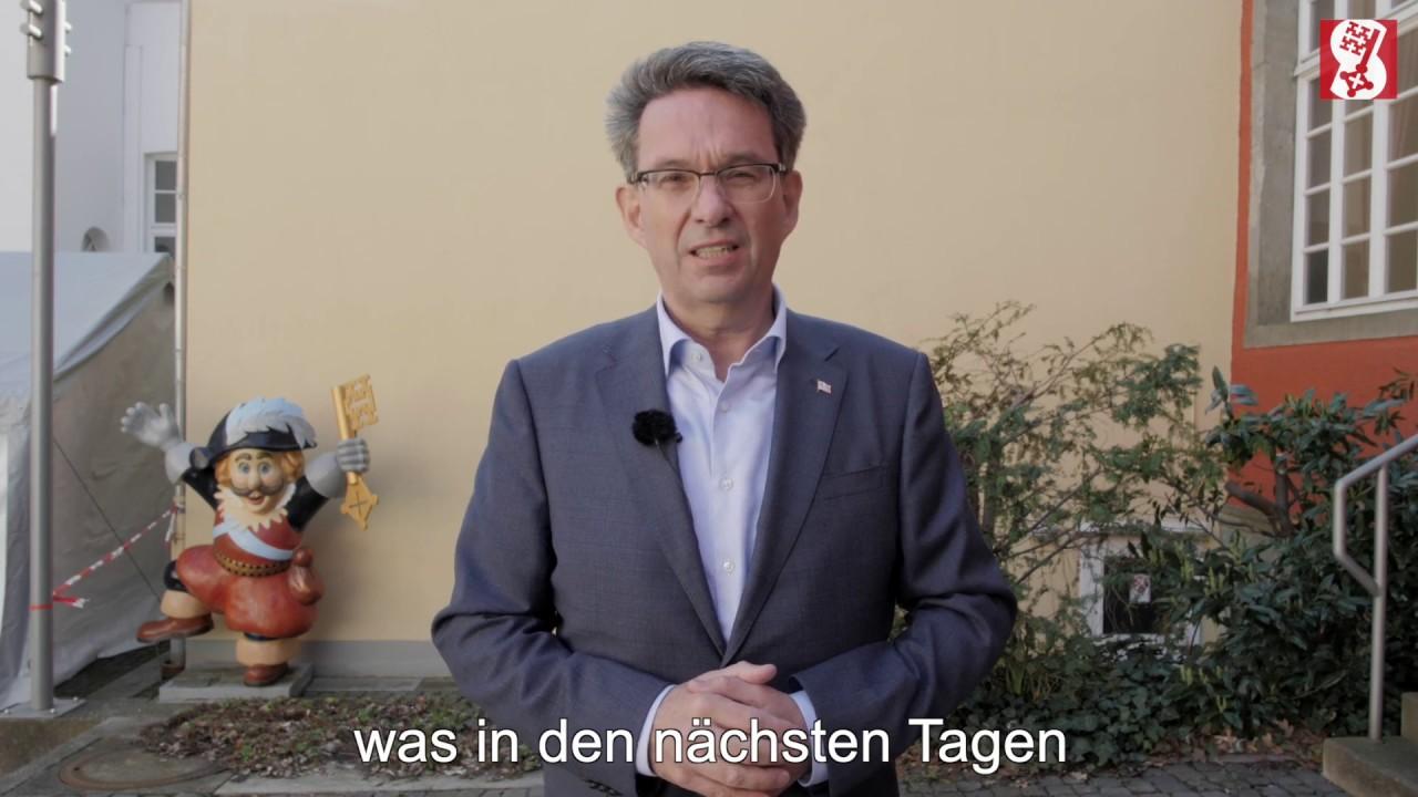 Bürgermeister der Stadt Soest ruft zur Solidarität auf