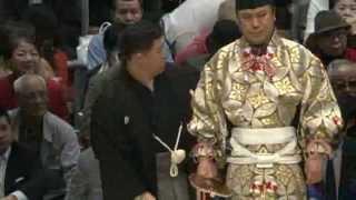 豪風の狼狽っぷりが面白い 平成25年春場所11日目 sumo takekaze kaisei.