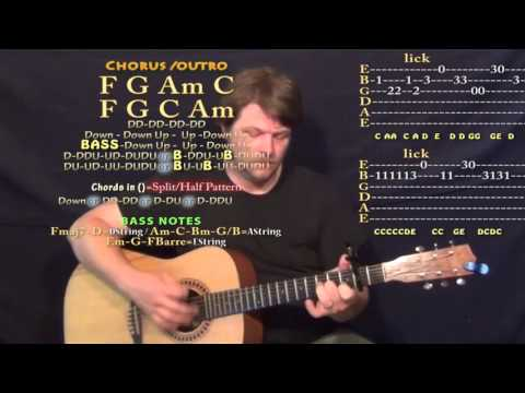Firestone (Kygo) Guitar Lesson Chord Chart - Capo 2nd - YouTube