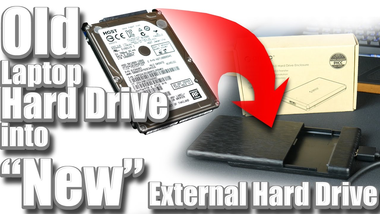 Turn an Old Laptop Hard Drive into an External Hard Drive