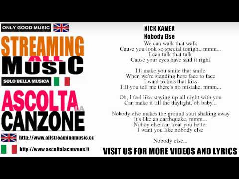 Nick Kamen - Nobody Else (Lyrics / Testo)