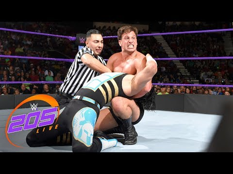 Mustafa Ali Vs. Drew Gulak: 2-out-of-3 Falls Match: WWE 205 Live