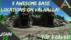 Valhalla Map - 5 Cave Locations to Build on Ark!