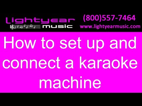 How To Set Up And Connect A Karaoke Machine/system - Lightyearmusic