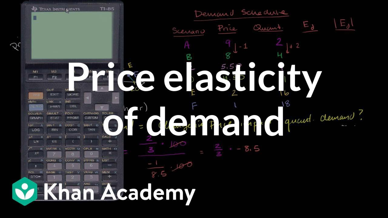 Price Elasticity Of Demand Using The Midpoint Method Video