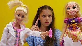Мультики для девочек.- Игры Барби и принцесса Рапунцель