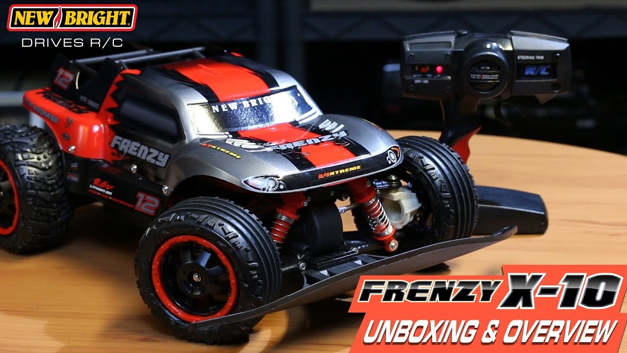 new bright - r  c frenzy x-10 - unboxing  u0026 overview