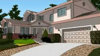 SketchUp 3D House Animation in Widescreen