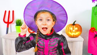 Norina Choose a Halloween Costume and Makeup but She is not Scary