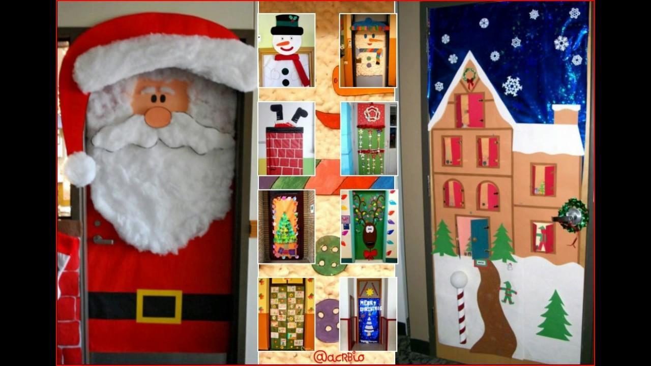 Mas de 50 ideas de como decorar tu puerta en navidad youtube for Adorno navidad puerta entrada