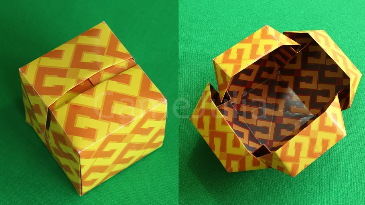 подарочная коробочка оригами схема
