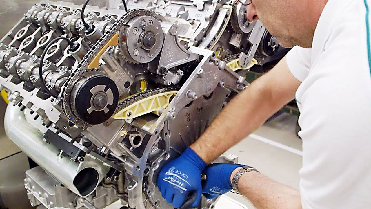 Bentley Factory  W12 Engine  YouTube