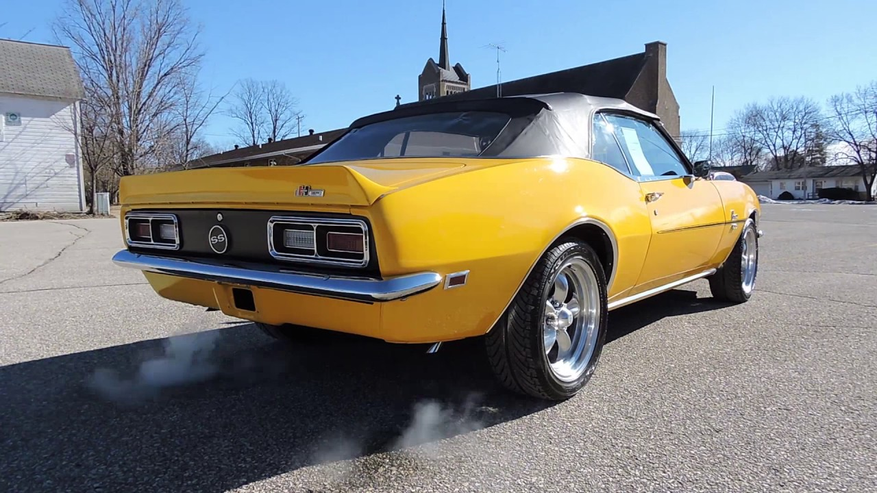 1968 Chevy Camaro SS yellow Convertible For Sale at www ...