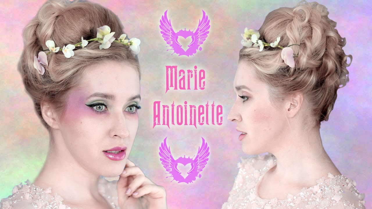 wedding/prom updo hairstyle: marie antoinette hair tutorial