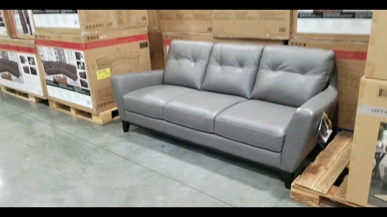 Costco! Natuzzi Group Mills Leather Sofa! $849!!!