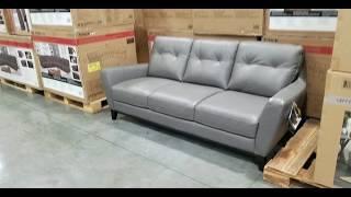 Costco! Natuzzi Group Mills Leather Sofa! $849!!!