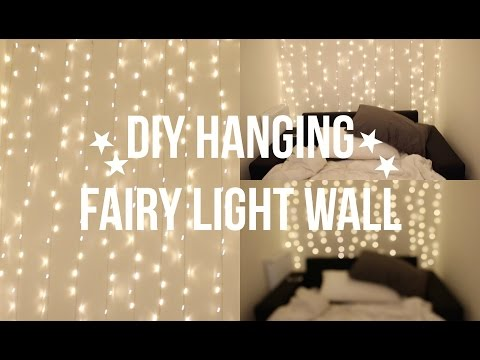 DIY FAIRY LIGHT WALL