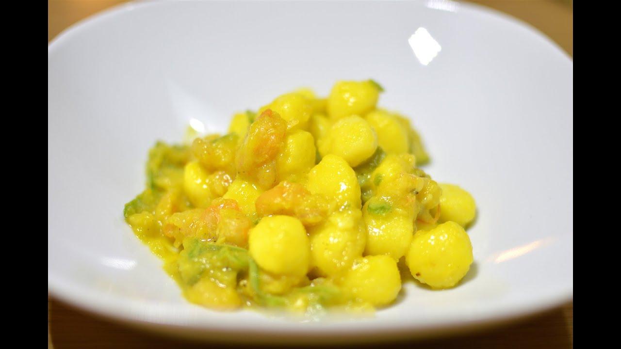 Molto Gnocchetti con zucchine e gamberetti alla crema di zafferano  OB25