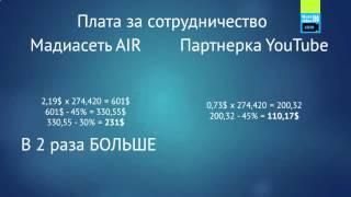 Медиасеть AIR. Какая партнерка лучше. Как выбрать медиасеть.(Моя партнерская ссылка для подключения: http://join.air.io/1videoseo., 2016-02-18T14:05:08.000Z)