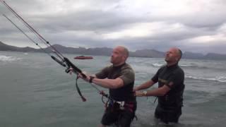 Richard english kite student Mallorca kitesurfing school edmkpollensa