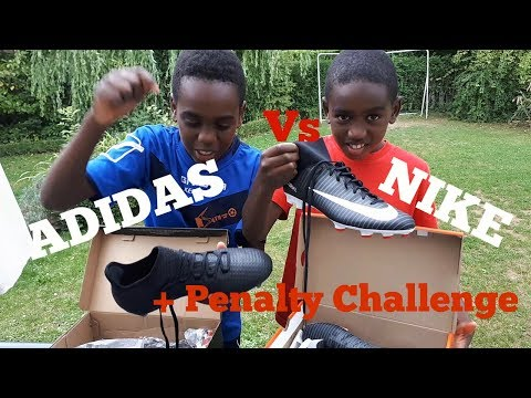 FOOTBALL - Unboxing ADIDAS X 17.2 FG vs NIKE Mercurial Victory DF + Penalty CHALLENGE | K-Boyz TV