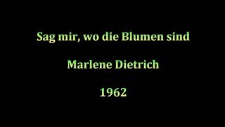 Marlene Dietrich Sag Mir Wo Die Blumen Sind Lyrics S Prijevodom