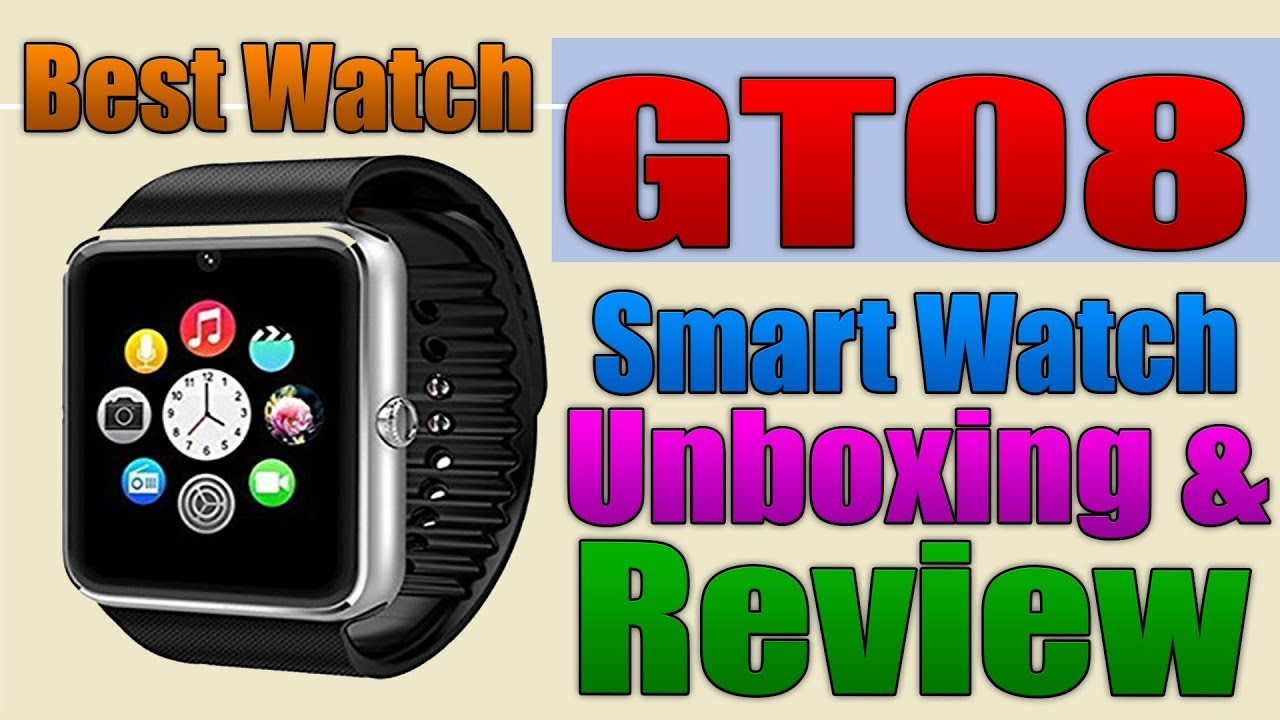 919fd5bfd1b GT08 Smart Watch Unboxing and Review (Best Watch) - YouTube