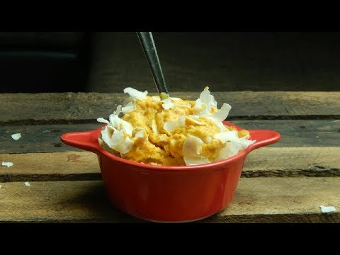 Delicioso y cremoso helado de calabaza y coco. Sin lacteos