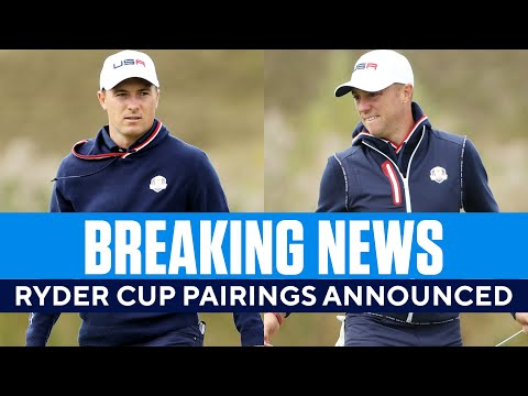 BREAKING: Ryder Cup Pairings Announced for Friday  CBS Sports HQ