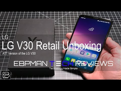 Happy LG V30 Day!  This is the LG V30 Real Unboxing of the Retail Version
