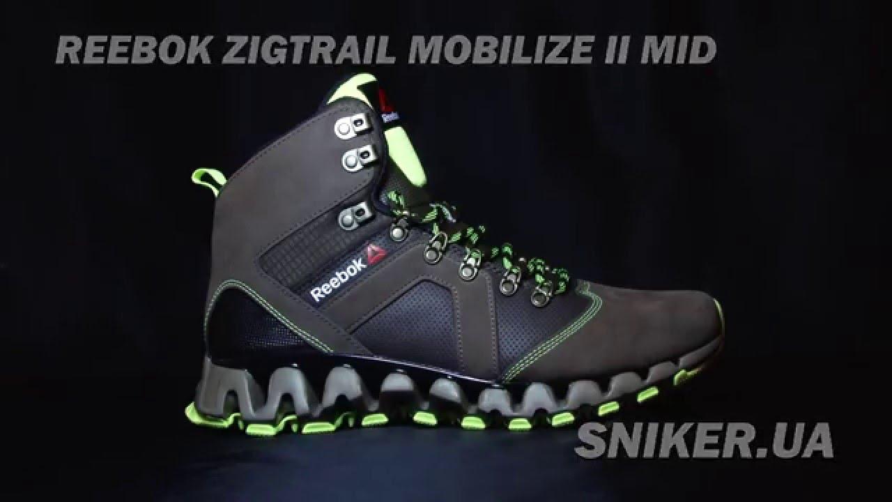 d20e239e1308c2 Мужские зимние ботинки Reebok Zigtrail Mobilize II Mid - YouTube