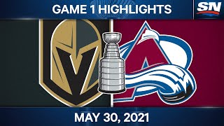 NHL Game Highlights   Golden Knights vs. Avalanche, Game 1 - May 30, 2021