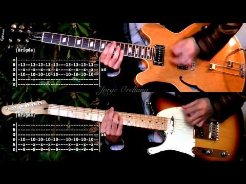 Last Nite - The Strokes ( Guitar Tab Tutorial & Cover ) [Tabs on video version]