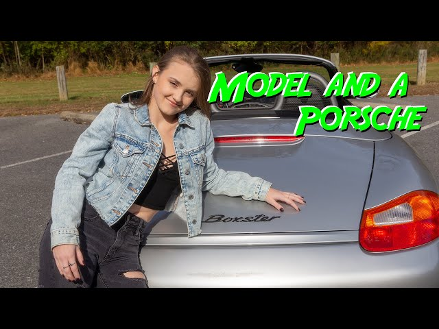 Model and a Porsche - Madi