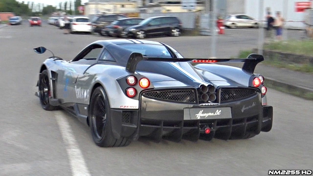 pagani huayra bc brutal accelerations and blue flames!! - youtube
