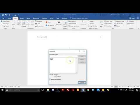 Creating A Word 2016 Document That Automatically Fills With Form Data. (APA Style)