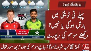Pakistan Vs England First T20 Weather Update   PAK vs ENG 1st T20 Rain Update   Manchester Weather