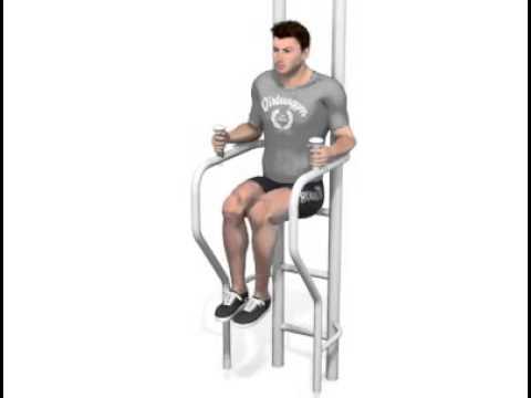 Faz105 Knee Raise Captain S Chair Youtube