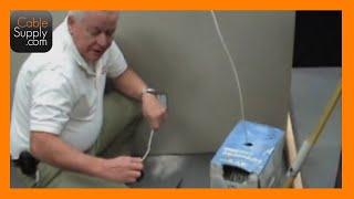 Fishing Walls And Cutting Drywall - Aluminium Studs - Part 1/2