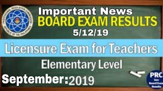 LET Important Things | LET Result September 2019 | licensure Exam for Teacher 2019 |