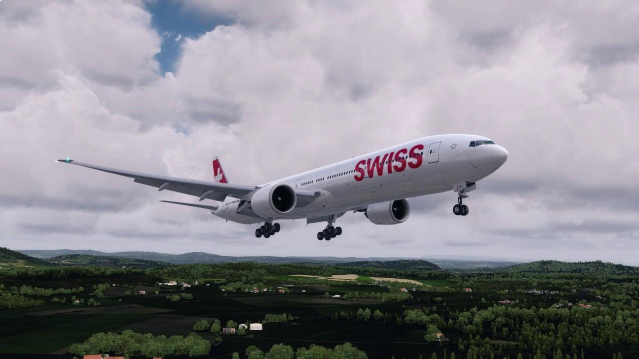 [P3Dv4] The beauty of prepar3d v4 #3 | 777 landing in Zurich