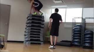 Box Jump World Record :: Jordan Kilganon :: 69 inch box jump.