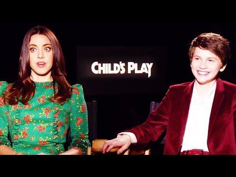 CHILD'S PLAY Aubrey Plaza + Gabriel Bateman Interview (2019)