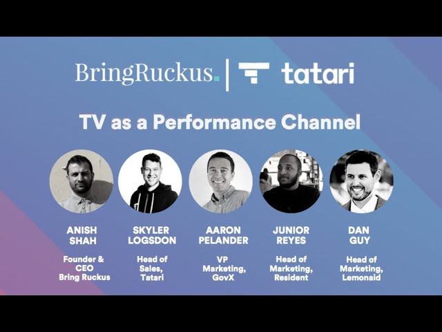 Bring Ruckus | Tatari : TV as a Performance Channel