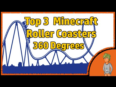 Top 3 INSANE Minecraft Roller Coasters in 360 Degrees! (360°)