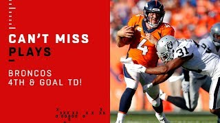 Broncos' TD on 4th & Goal After Stopping Raiders on 4th Down!