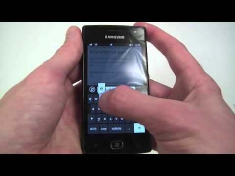 Samsung GT-I8350 Omnia W hands-on